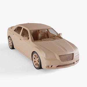 chrysler 300 srt8 3D model