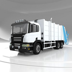 3D Hydraulic Lifter Garbage Truck