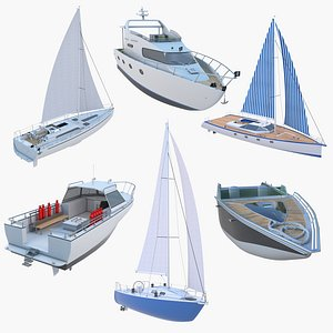 6 Ships Collection 3D model