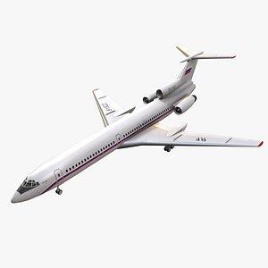 Tupolev Tu-154 Russia Animated 3D