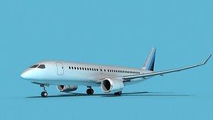 3D Bombardier CS100 Corporate 2 model