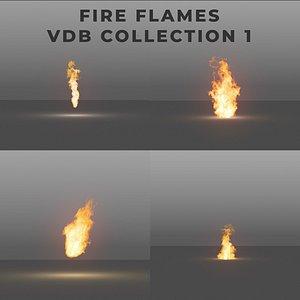 3D Fire Flames PACK 1 - VDB model