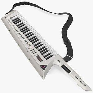 3D Roland AX Edge Keytar White model