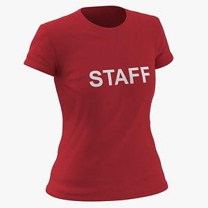 Female Crew Neck Worn Red Staff 02(1) model