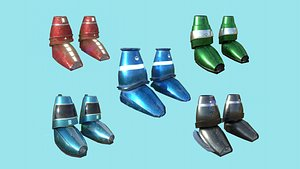 05 sci-fi boots - 3D