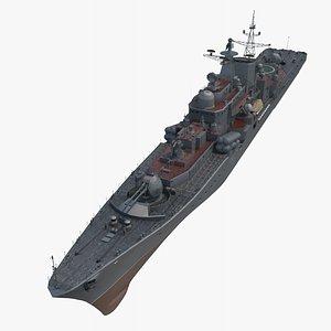 destroyer 956 warship 3D