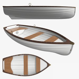 traditional rowing boat 3D