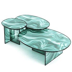 3D Liquefy Crystal Coffee Table by Glas Italia model