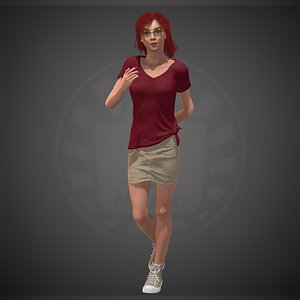 3D model character people human