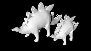 stegosaurus dino dinosaur 3D