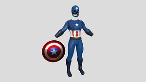 3D model Captain America Outfit 02 - Character Design Fashion