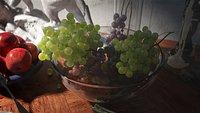 C4D octane Super realistic Still life of fruit painting grape