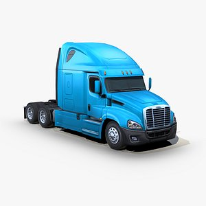 3D freightliner cascadia semi truck model