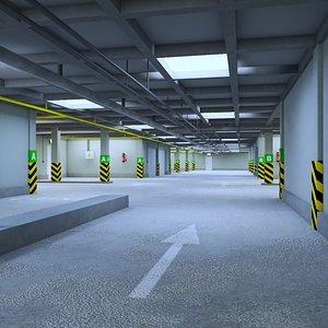 3D Underground Parking Garage model