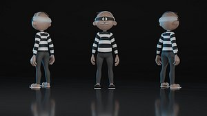 3D Old Thief
