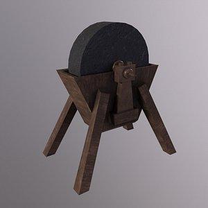 MedievalProps Sword Sharpening Low-poly 3D model 3D model