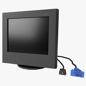 Old CRT PC Monitor - Low Poly 3D