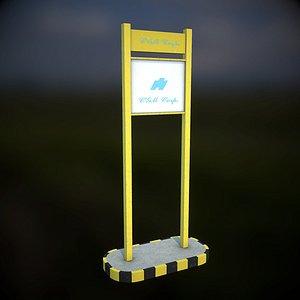 3D model street billboard