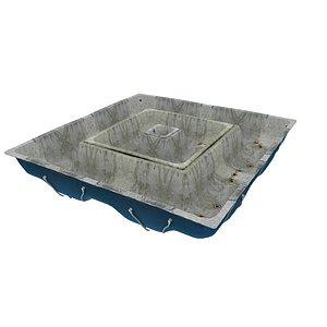 Old Swimming Pool 01 03 3D model