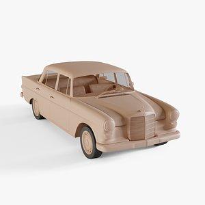 1966 Mercedes-Benz 200 3D model