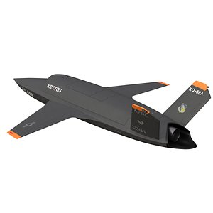 kratos xq-58 valkyrie 3D model