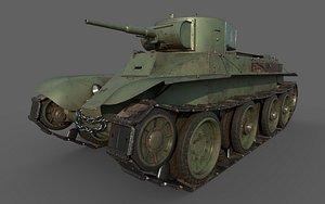 3D Soviet Tank BT-5 model