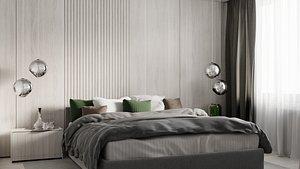 Modern bedroom interior model