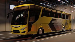 3D model bus ecoline rahayu