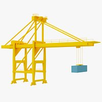 crane port lowpoly