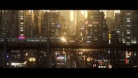 Cyberpunk Asian City Scene