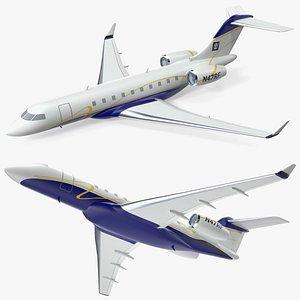 3D Bombardier Global 6000 Scale Model