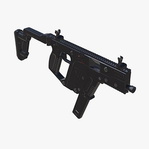 3D SMG Kriss Vector Low-poly model