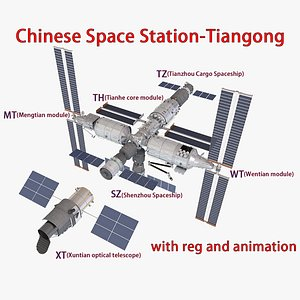 chinese space station 3D model