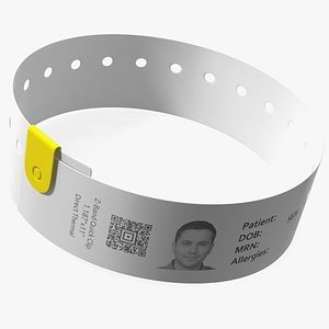 Hospital Patient ID Wristband model