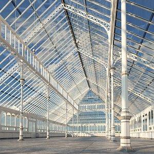 Conservatory Pavilion Greenhouse 3D model