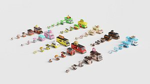 3D model Food Cart Pack Collection