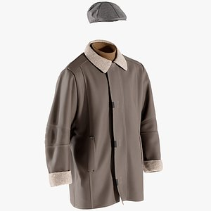 coat hat pullover 3D model