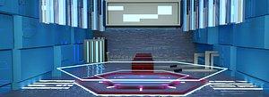 3D Space bar package science fiction technology virtual studio future concise luminous adverti