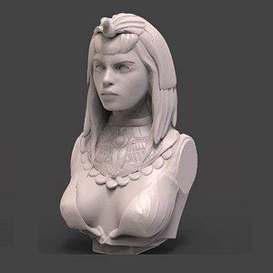 cleopatra bust 3D model