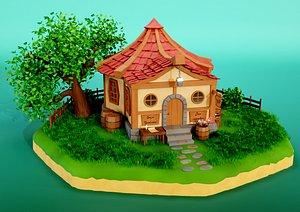 3D Fantasy Tavern model