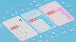 Cartoon Calculator 3D model