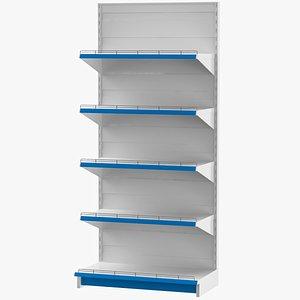 supermarket shelves super 3D model
