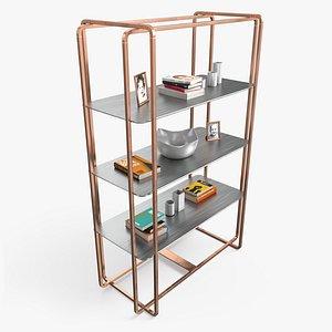 3D model pbr shelf