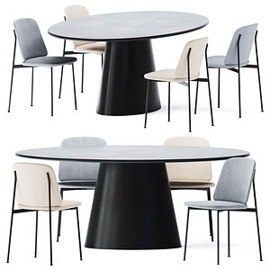 Dining Table Conic by Cor model