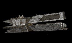 3D Aggressor class destroyer model