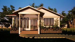 Small Cute House 2 bedroomed bungalow model