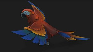parrot 3d model download for your animation and games model