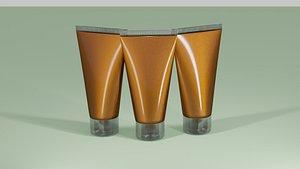 cosmetic tube 3D model