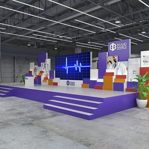 Stage Exhibition 3D model