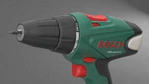 bosch screwdriver drill 3D model